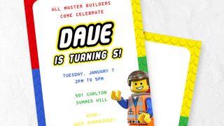 FREE Lego Party Invitation