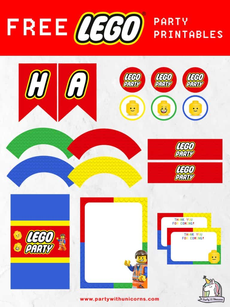 Lego Party Printables