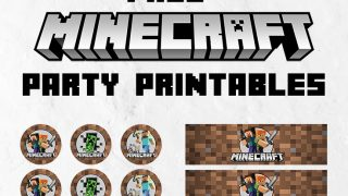 FREE Minecraft Party Invitation & Printables