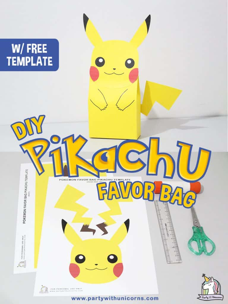 DIY Pikachu Favor Bags