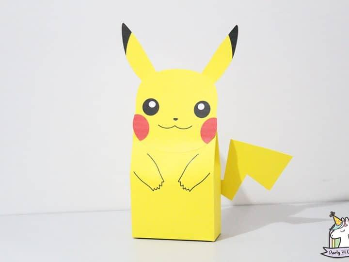 DIY Printable -Paper Box Pocket Monster Pikachu | Valentijn doos ... | 540x720