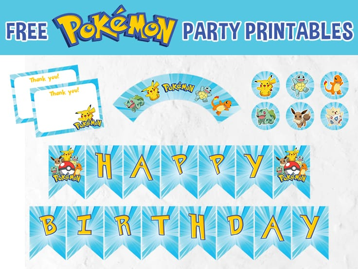 Pokemon Party Printables