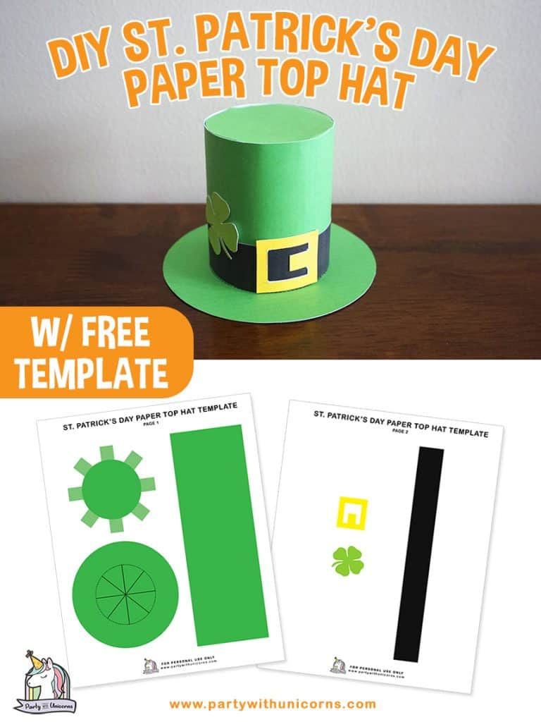 St. Patricks Day Top Hat Craft for Kids