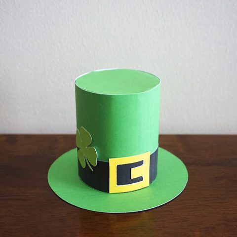 DIY St. Patrick's Day Paper Top Hat