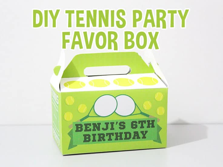 Tennis party Favor Box