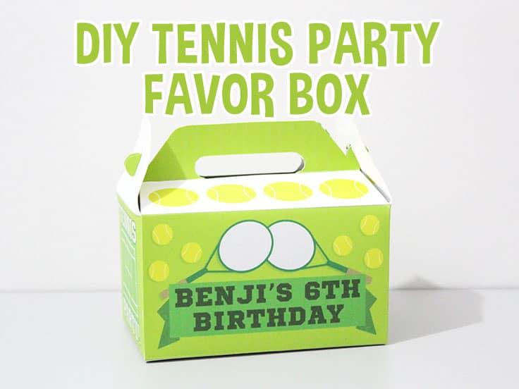 Tennis party Favor Box