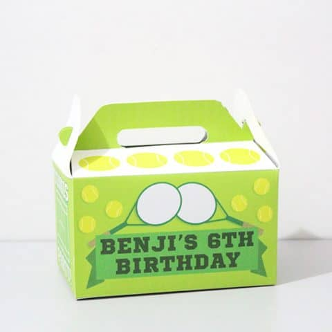 DIY Tennis Party Favor Box