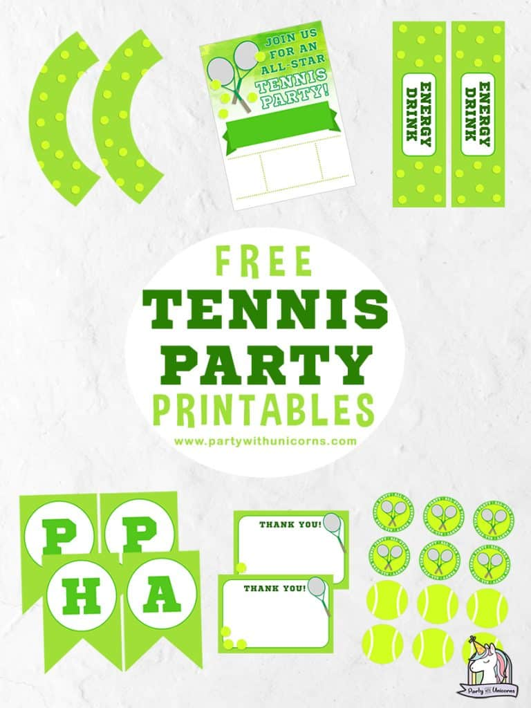 Tennis Party Printables