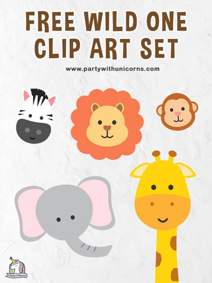 Free Wild One Clip Art Set
