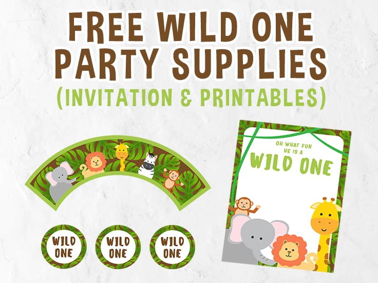 Free Wild One Party Printables Set