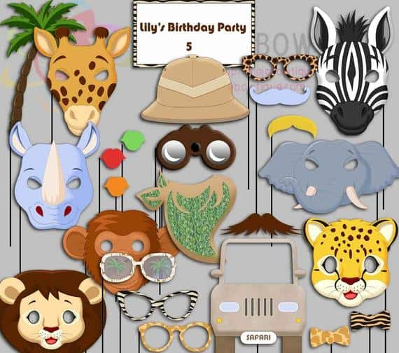 Wild One Party Photo Booth Props