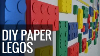 Paper Craft Lego Backdrop