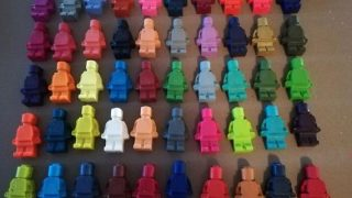 Lego Figure Crayon Party Favours