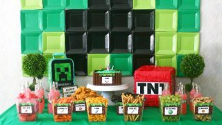 Minecraft Party Backdrop