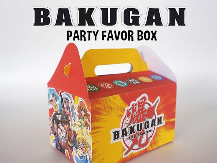 Bakugan Party Favor Box