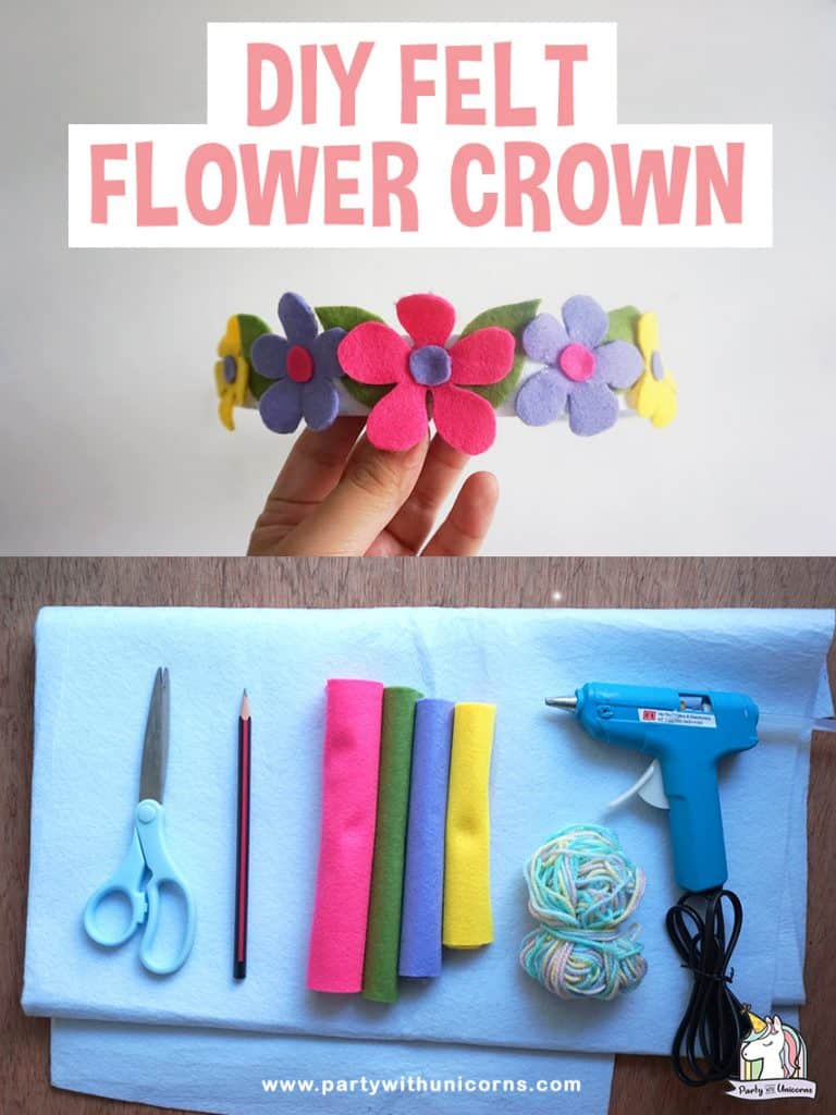 DIY Felt Flower Crown Craft. Follow our step by step instructions to make your own headband.