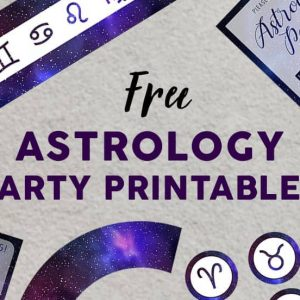 Astrology Party Printables Set