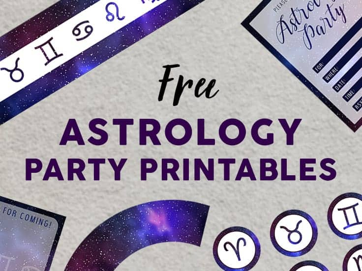 Astrology Party Printables Set