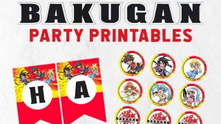Free Bakugan Party Invitation & Printables