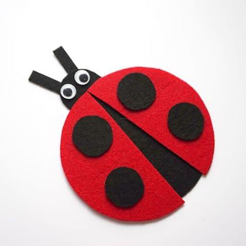 DIY Ladybug Felt Cup Cover
