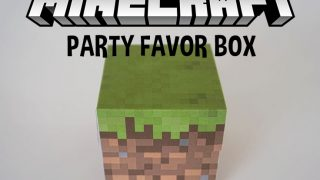 DIY Minecraft Favor Box