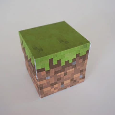 DIY Minecraft Party Favor Box