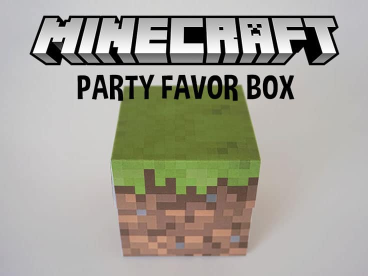 free printable Minecraft Favor Box