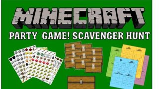 Minecraft Party Scavenger Hunt Game
