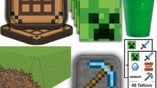 Minecraft Party Table Set-up Supplies