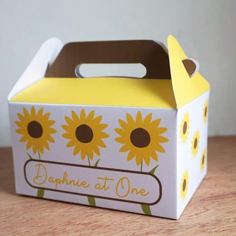 DIY Sunflower Favor Box