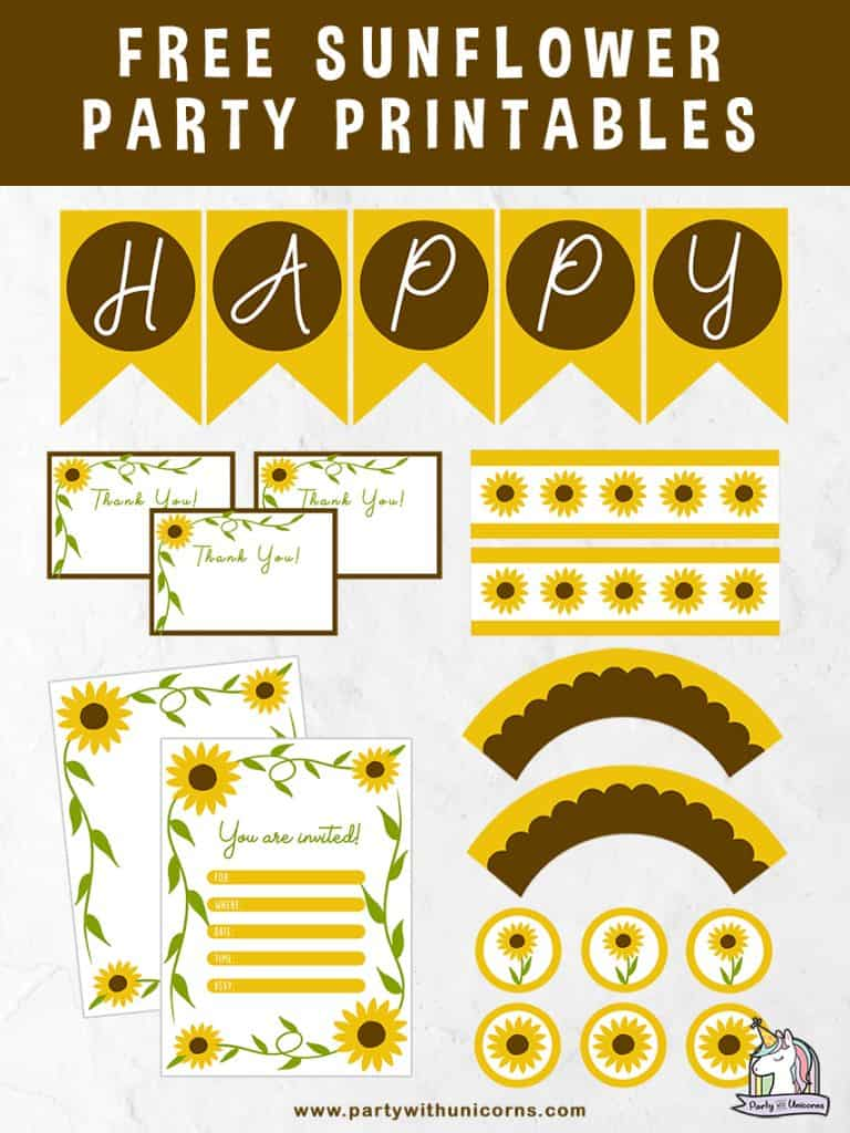 Sunflower Party Printables