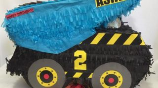 Personalized Construction Truck Pinata Construction