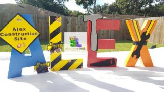 Construction Birthday Party Letters