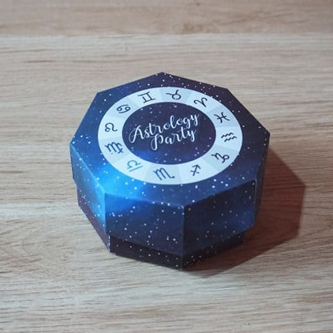 DIY Astrology Party Favor Box