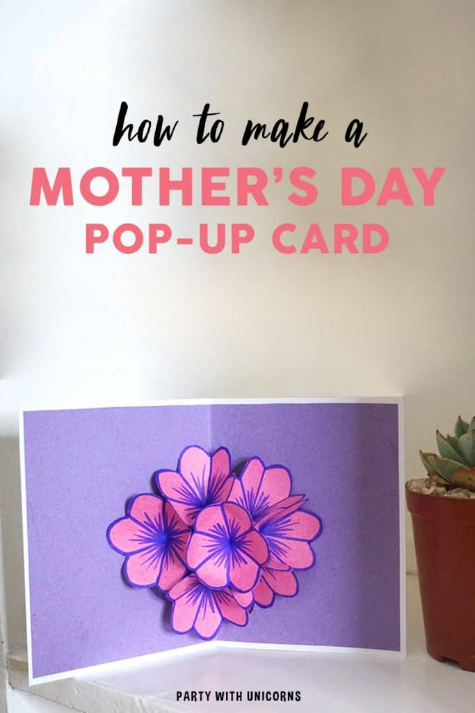 DIY pop-up Mother's Day Pop-up Card. An Easy craft for kids.