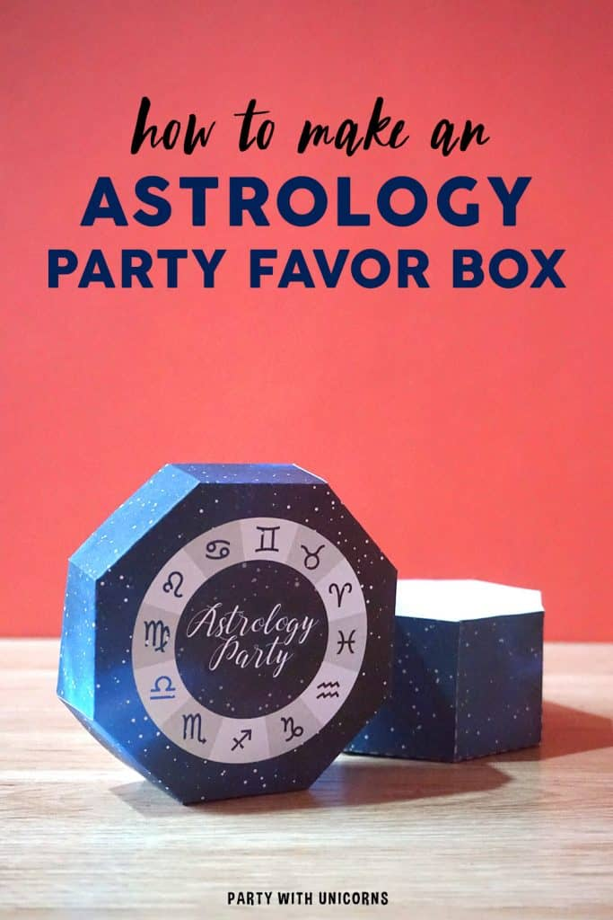 Astrology Party Favor Box - free template available for download