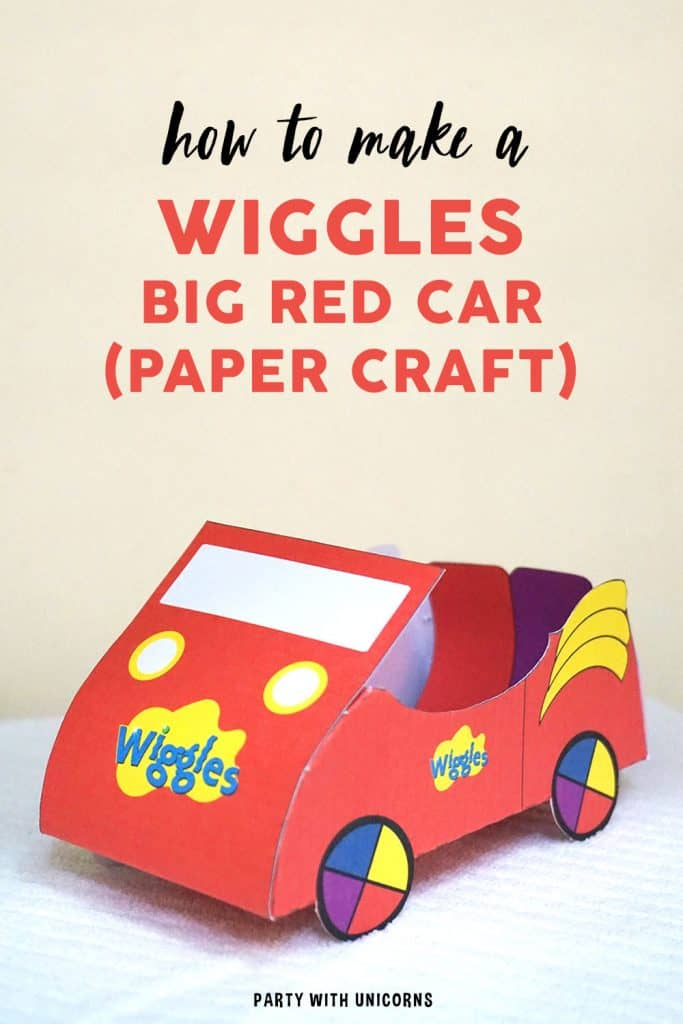 Wiggles BIg Red Car Party Favor Craft Template