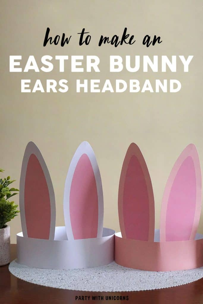 Easter bunny ears headband craft kids with free template