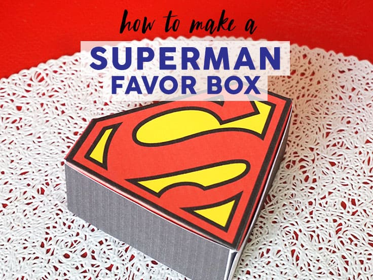 Superman Favor Box