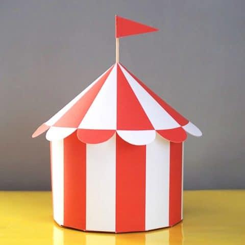 Circus Tent Favor Box