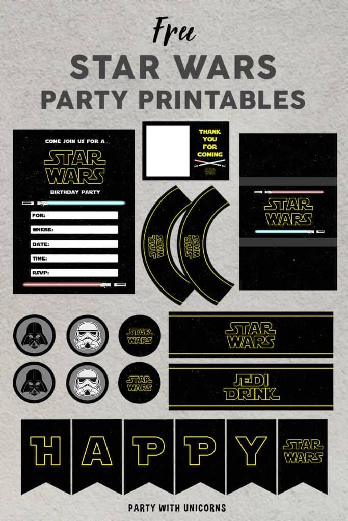 Star Wars Party Printables Set