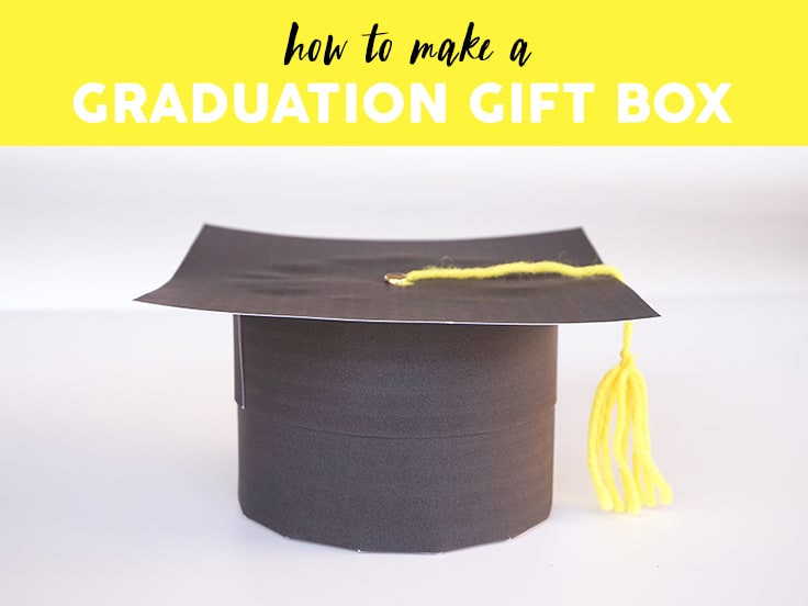 graduation favor box template