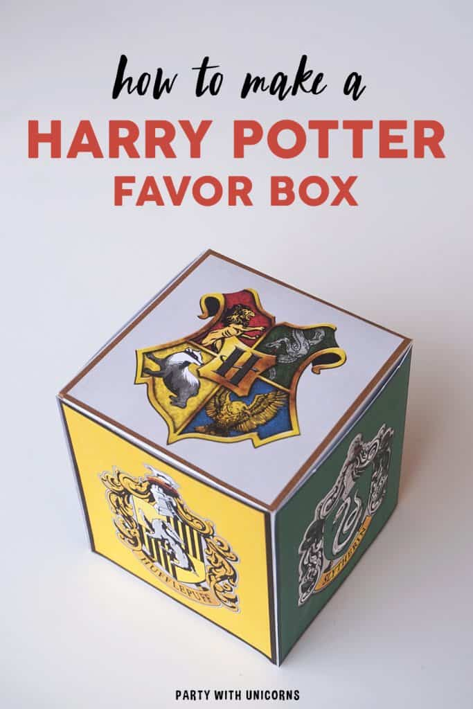 Harry Potter Favor Box- Free Download