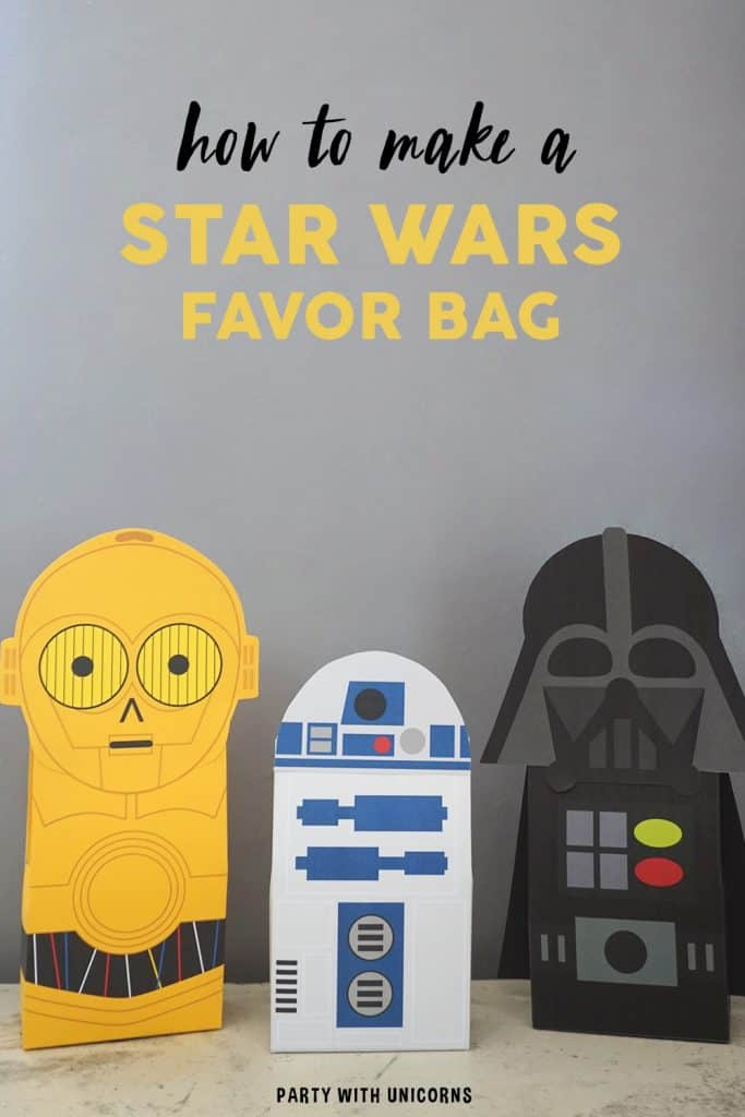 Free Template Star Wars Favor Bags