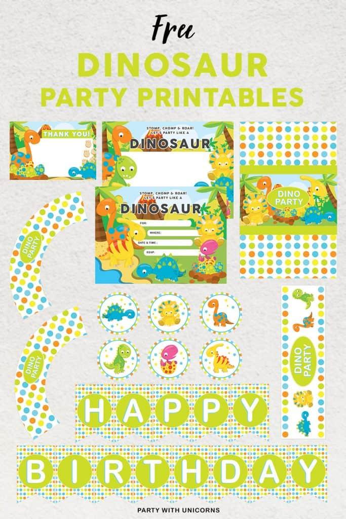 Free Dinosaur Party Printables
