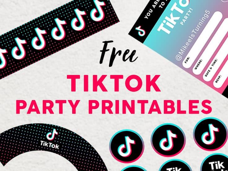 TikTok Party Printables