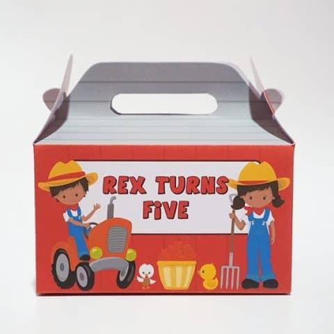 DIY Farm Party Favor Box