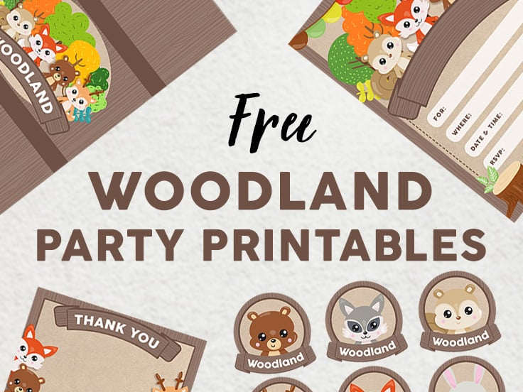Woodland Party Printables set