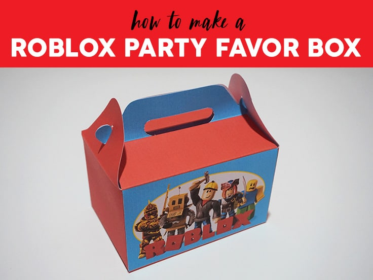 Roblox Party Favor Box