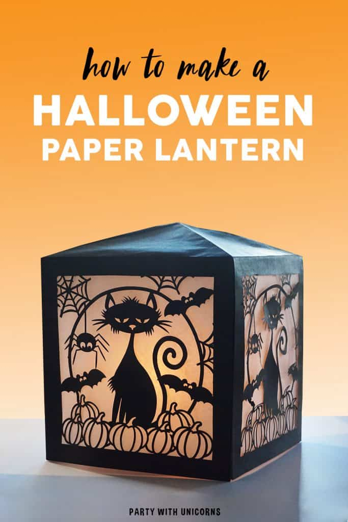 Halloween Paper Lantern Craft